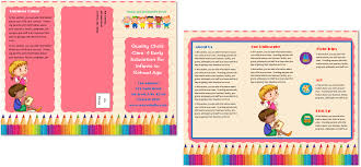 brochure child care brochure template child care brochure template design medium size
