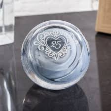 silver anniversary celebration paperweight by caithness gl image