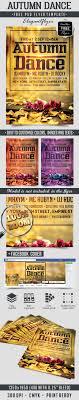 autumn dance free flyer psd template facebook cover
