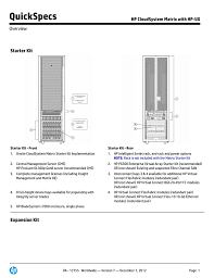 Hp Bladesystem Compatibility Chart Quickspecs Starter Kit Hp Cloudsystem Matrix With Hp Ux