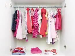 Closet with baby clothes