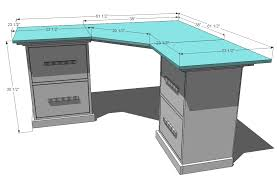 ana white office corner desktop plans diy projects gallery with computer desk build pictures