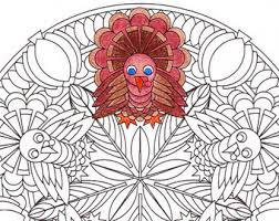 Small Picture Thanksgiving Mandala Coloring Page Autumn Harvest