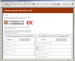 Create Checklist In Excel Design Process Checklist