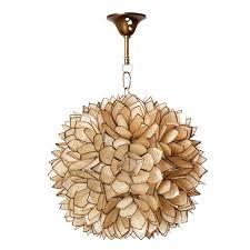 lotus flower chandelier lovely shell large r47