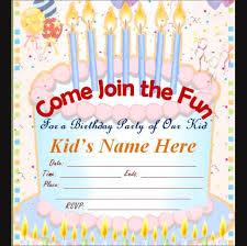 Online Birthday Cards For Kids Kids Birthday Invitation Cards Online Under Fontanacountryinn Com