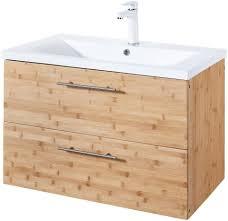 Konifera Waschtisch Bambus New Waschplatz 80 Cm Breit Bad Set