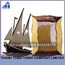pfwi008 boat shaped photo frame with intarsia