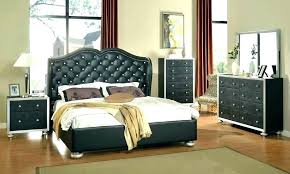 White Tufted Bed With Crystals Tufted Headboard Bedroom Set White ...