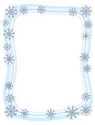Winter Snowflake Border Stock Vector
