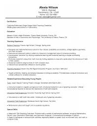 Entry Level College Professor Resume Examples Math Teacher Example