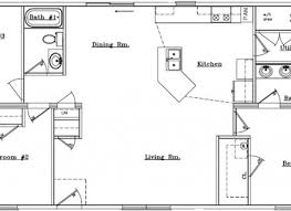floor plan of a one story house. Ranch Style One Story House Plans Open Floor Plan On Small Of A