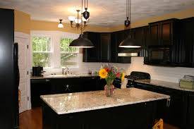 Bright Kitchen Color Black Kitchen Island And Furniture Dashing Black Cabinet Design