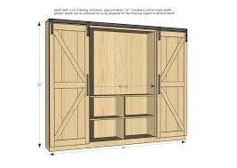 ana white sliding door cabinet for tv diy projects pertaining to sizing 2024 x 1430