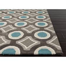 picture of jaipur brio hand tufted geometric pattern polyester gray blue rug br30