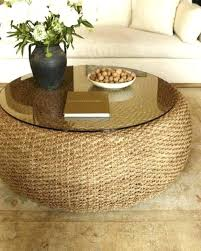 seagrass coffee table round coffee table incredible round coffee table natural coffee table pottery barn coffee