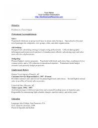 Hotel Reservationsgent Resume Examples Reservation Cv Sample