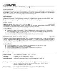 resume for student teacher