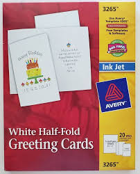 Avery 3378 Template Avery 20 White Half Fold Greeting Cards And Envelopes 5 5 X