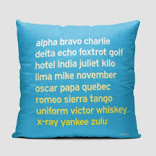 First used primarily by military servicemen and women, several different spelling alphabets came in and out of use in the early twentieth century. Throw Pillow Nato Phonetic Alphabet