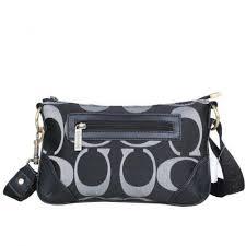 Coach Swingpack Monogram Small Black Crossbody Bags DPO