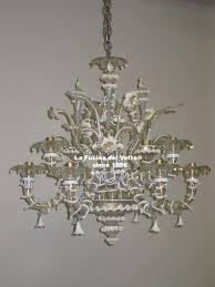 murano glass chandelier minirezzonico filigree