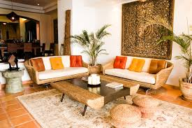 Japanese Living Room Furniture Japanese Living Room Wooden Table Furnished Wite Sofa Round
