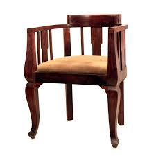 wooden chair round armrest for living room hotels Solid sheesham