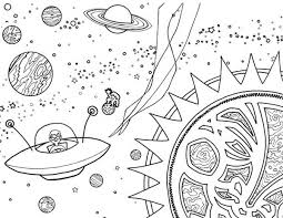Small Picture Alien Spaceship Coloring Page NetArt