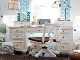 Bedroom: White Bedroom Desk Beautiful White And Blue Girls Desk In Bedroom  Decobizz - White