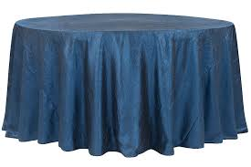 crushed taffeta 120 round tablecloth navy blue
