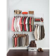 ClosetMaid ShelfTrack 4 ft. to 6 ft. White Wire Closet Organizer ...