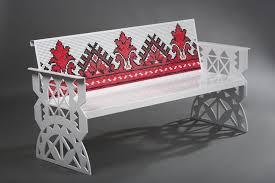 furniture motifs. Steel Furniture With Handmade Stitched Romanian Traditional Motifs By Metal Creativ