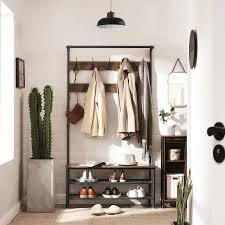 vasagle industrial coat rack with