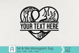 These svg images were created by modifying the images of pixabay. Mr And Mrs Svg Mr And Mrs Monogram Svg Mr And Mrs Vector 288221 Cut Files Design Bundles