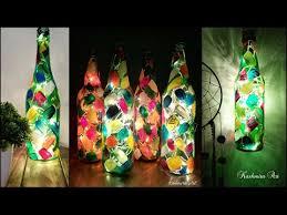 home decor idea diy bottle lamp