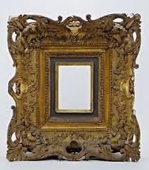 Antique Vintage Gold Gilt Ornate Gesso Carved Frame Rococo Victorian