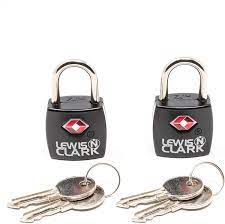 Amazon.com | Lewis N. Clark Travel Sentry TSA Lock + Mini Padlock for  Luggage Suitcase, Carry On, Backpack, Laptop Bag, Purse, Airport, Hotel &  Gym (Includes 4 Keys), 2-Pack, Black