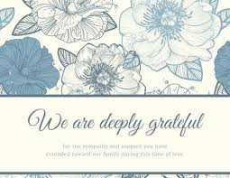 Thank You For Sympathy Card Customize 33 Funeral Thank You Card Templates Online Canva