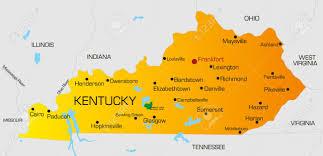 kentucky state map within  roundtripticketme