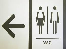 restroom directional sign. Toilet Signage Restroom Directional Sign