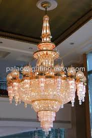 large crystal chandeliers for hotel and motel lobbies
