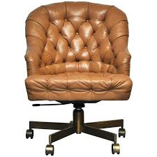 tufted leather executive office chair. Tufted Leather Desk Chair On Bronze Base By 1 High Back Traditional Executive Office