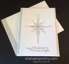 Stampin Up Star Of Light Cards Sneak Peek Star Of Light Christmas Card Stampin Pretty