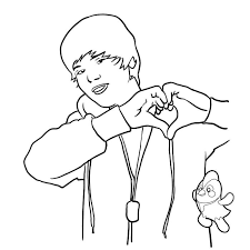 Small Picture Justin Bieber Printable Coloring Pages Coloring Home