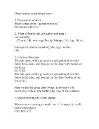 Observations Concerning Essays