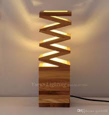 excellent best quality modern solid wood art creative individuality bedroom in wood table lamps modern