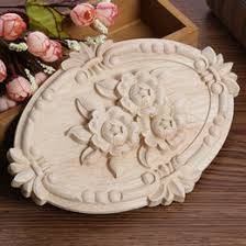 wooden appliques for furniture.  For Furniture Appliques Australia  Woodcarving Decal Oval Embossed Wood  Applique Unpainted Decor Intended Wooden For