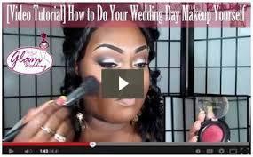bride doing her own wedding makeup