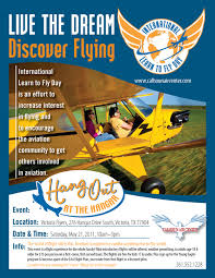 fly in flyers hang out at the hangar on learn to fly day event at victoria flyers